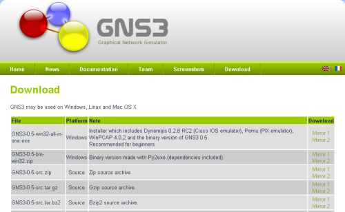 GNS3 download